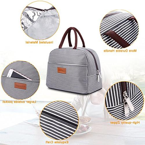 BALORAY Lunch Tote Bag Organizer Holder Insulated Cooler Bag for