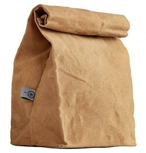 lunch bag waxed canvas durable
