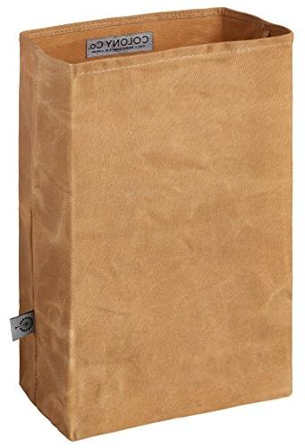 COLONY CO. Lunch Bag | Waxed | Durable | Brown | Women &