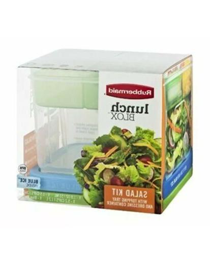 lunch blox salad kit with topping tray