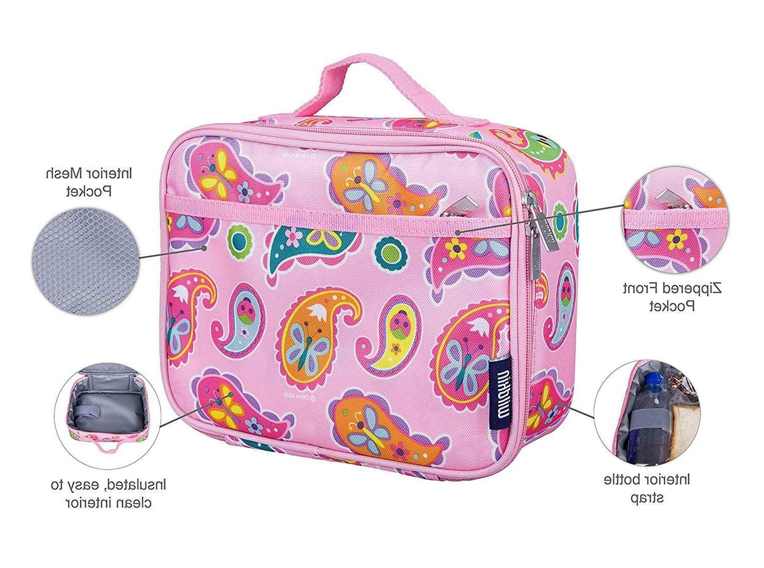lunch box by paisley durable fabric construction