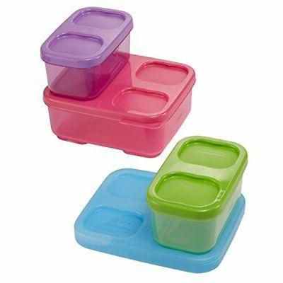 Rubbermaid Lunchblox Lunch Bag Kit, Purple/Pink/Green, 1866738 Kitche