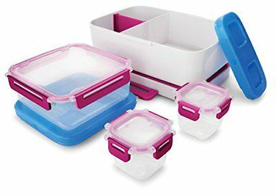 Rubbermaid LunchBlox Leak-Proof Entree Lunch Container Kit Case, Small, Bee