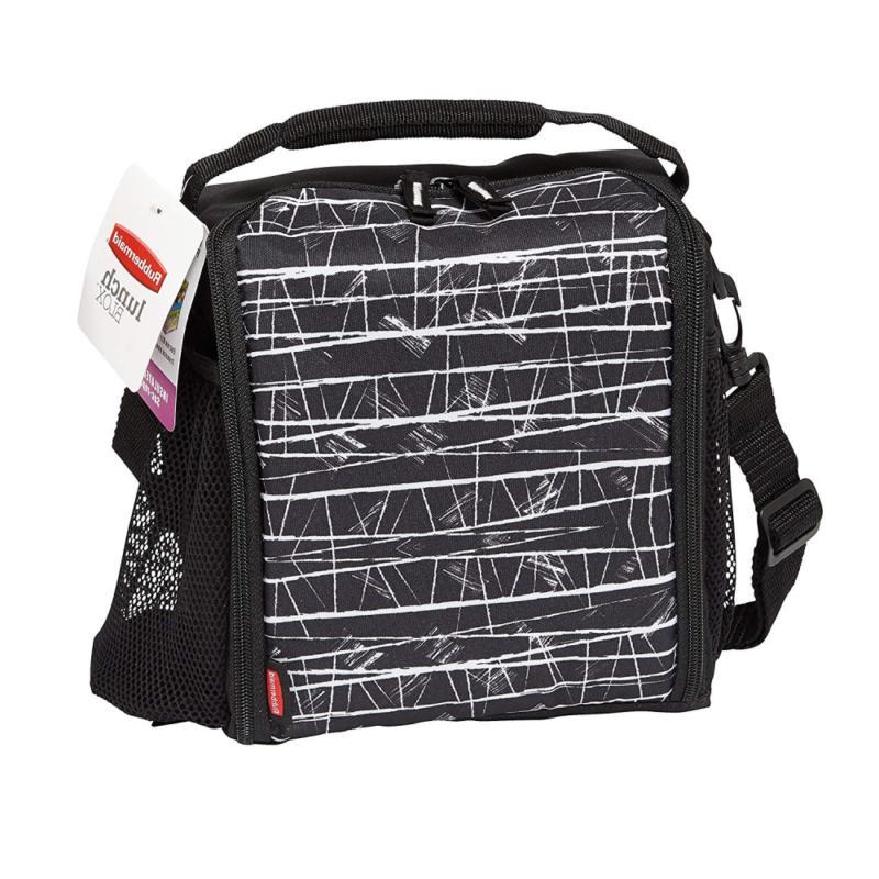 Rubbermaid Lunch Bag, Medium, Black Etch 1813501