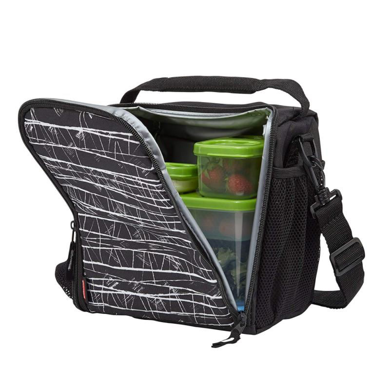 lunchblox lunch bag medium black etch 1813501