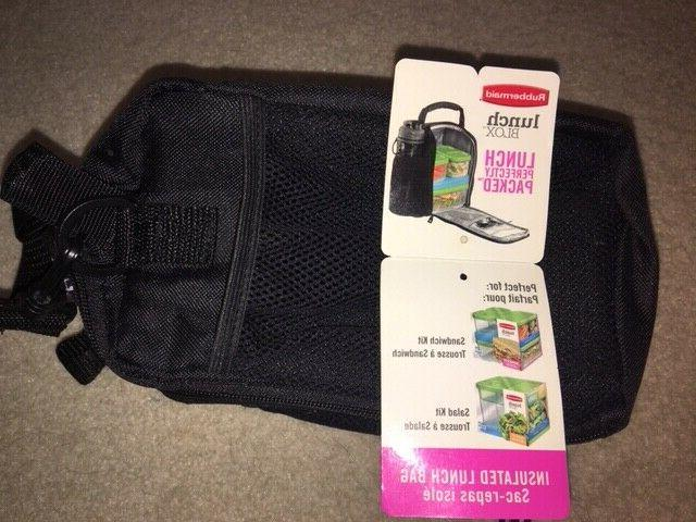 med lunch blox insulated lunch bag black