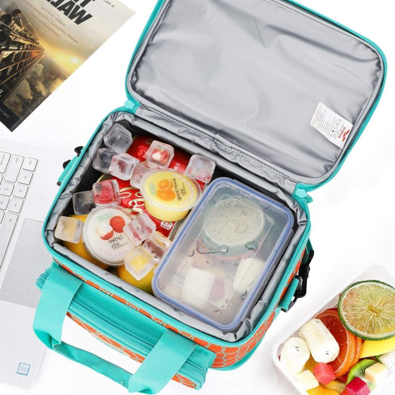 MIER Insulated Lunch Bag for Women, Leakproof Free Ship