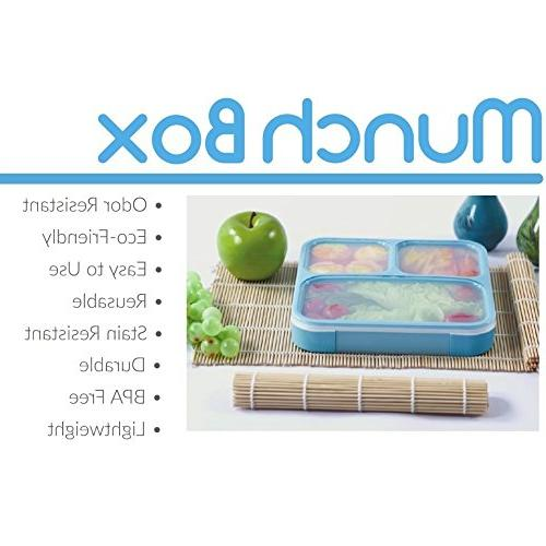 MUNCHBOX Lunch Box - Edition Tray with - Prevents Contents Microwavable Dishwasher - For Kids Adults
