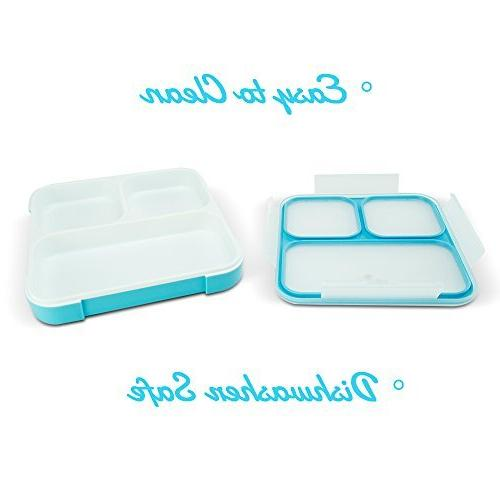 MUNCHBOX Bento Box - Tray with Air - Prevents Mixing Spilling - Microwavable Dishwasher - & Adults