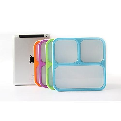 MUNCHBOX - Sleek Edition Tray 3-Compartment with - Contents Mixing Microwavable - Dishwasher - Adults