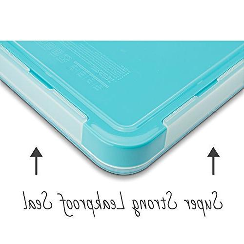 MUNCHBOX Bento - Sleek Edition Tray Style 3-Compartment with Air Tight - Mixing Microwavable Friendly - For & Adults