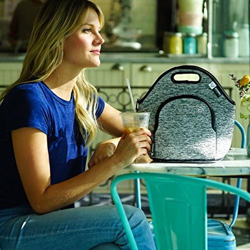 LunchFox Eco-Friendly Bag , Grey Melange, The