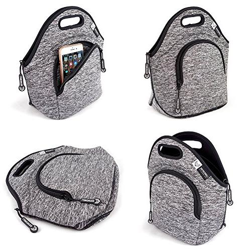 LunchFox Eco-Friendly Bag Melange, Ultra-Thick Insulated The Silver