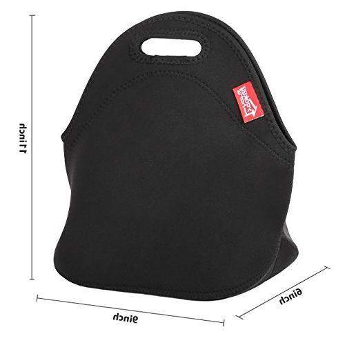 Black Neoprene Lunch Yookeehome Thermal Lunch Neoprene Lunch Carry Case Handbags Tote Nurse Travel