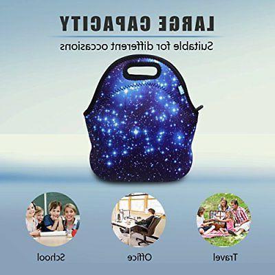 Neoprene Lunch OFEILY lunch bag Blue star