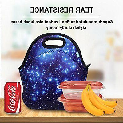 Neoprene Lunch Tote, lunch for Blue