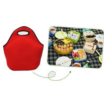 Outdoor Insulated Lunch Bag Carry Neoprene Tote