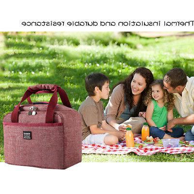 Oxford Cloth Home Cool Lunch Bag Storage Kitchen Organizer W