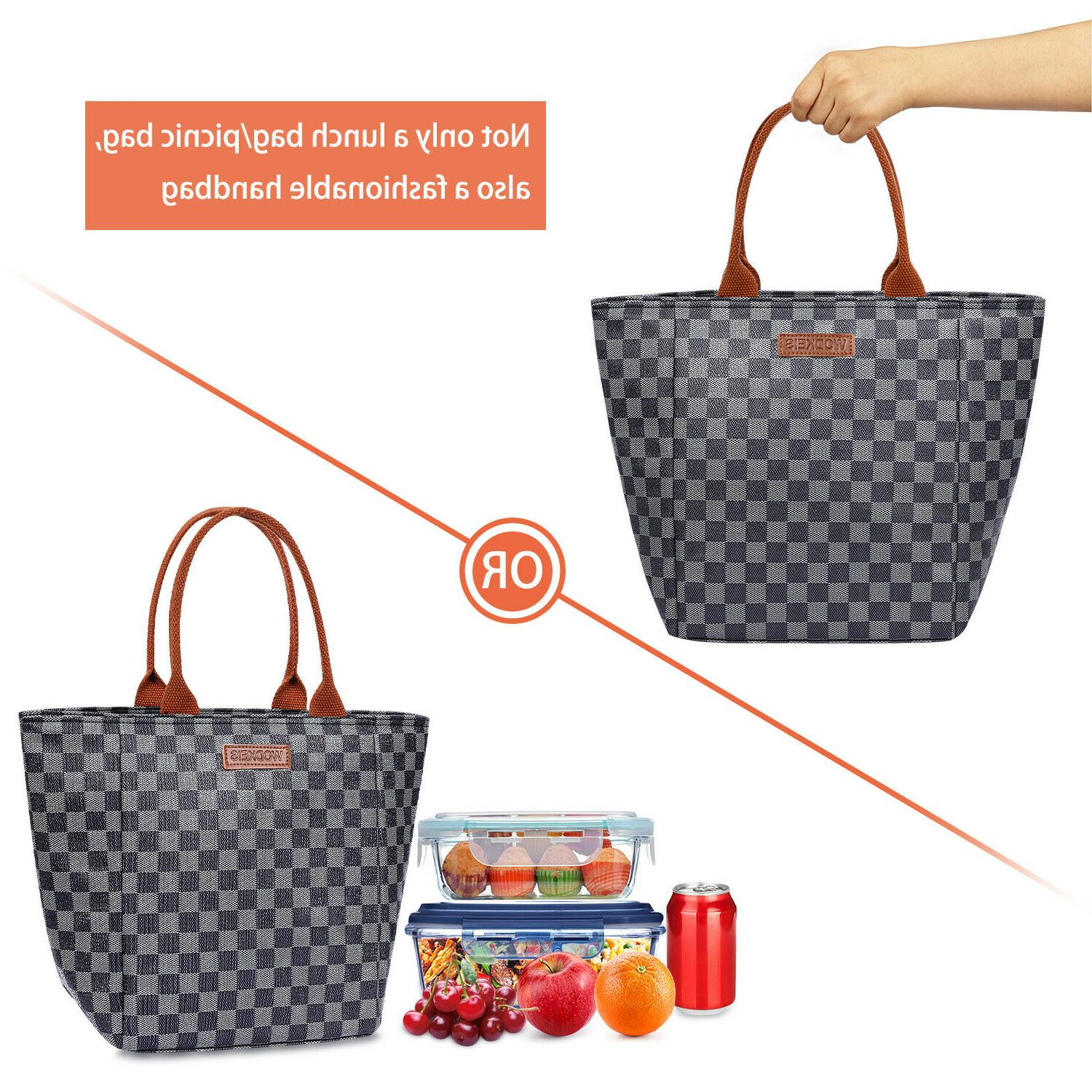 WODKEIS Insulated Lunch Bag Tote For Outing 10L