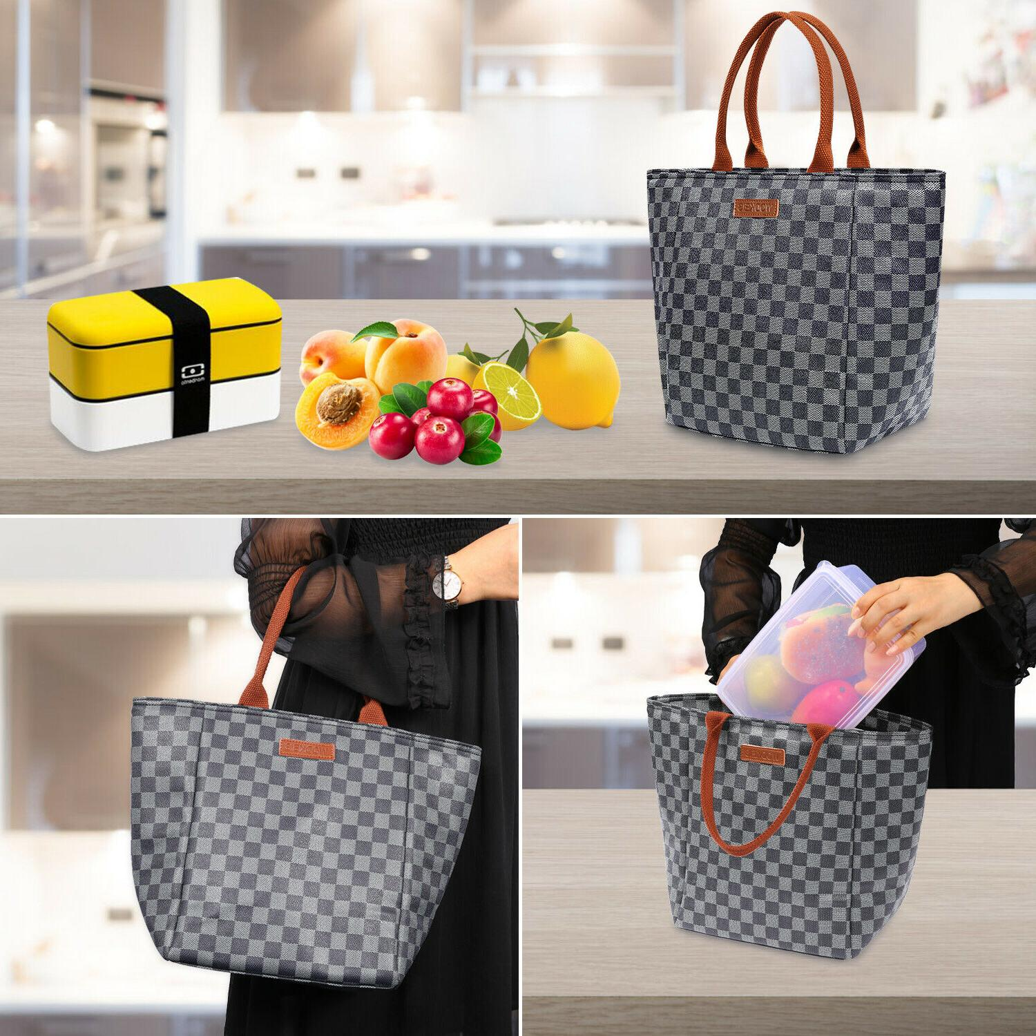WODKEIS Thermal Lunch Bag Food Tote For Work Office 10L