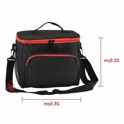 Women Thermal Insulated Lunch Bag Portable Travel Picnic Lunch Box Bag