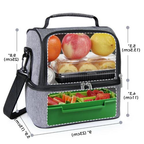 Portable Insulated Bag Picnic Lunch Box Women Men
