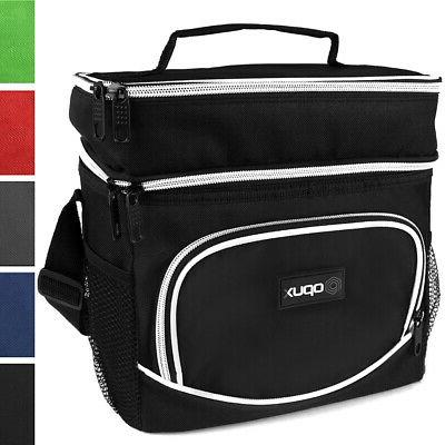 premium insulated dual compartment lunch bag