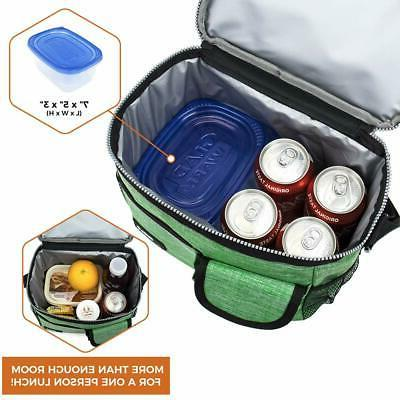 Medium Lunch Bag for Adult Men Women Kid School Thermal Leakproof