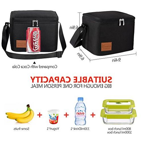 Aosbos Lunch Box Bag Cooler Bag Black