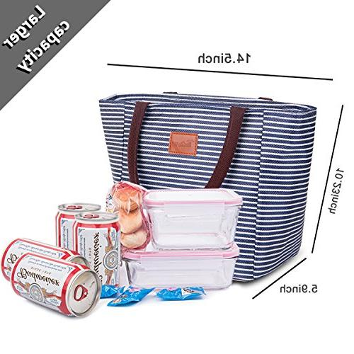 TianQin WY Reusable Lunch Tote for Oxford Lunch Bag Tote Bag Bag for Women Kids, and Strips