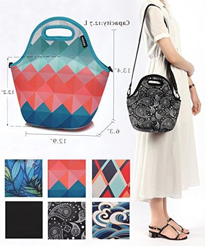 VASCHY Bag Girls Large with Strap for in Retro Triangle