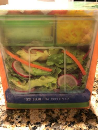Rubber Maid Salad Kit Tray And Dressing