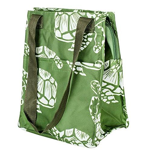 sea turtles green insulated lunch