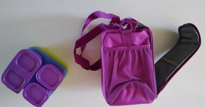 Rubbermaid Lunch Bag Blox Set Pack Bright Purple