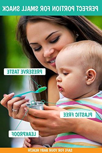 Dipping Containers – 3 X Stainless Containers – Control – and – for Baby Food Storage