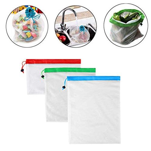 12pcs Bags Eco Storage Fruit Vegetable - Hiking Compression Space Lunch