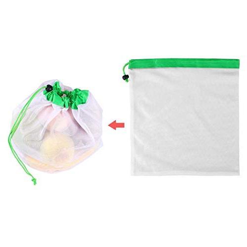 Storage Bags 12pcs Reusable Mesh Bags Friendly Storage Toys - Hiking Compression Half That Bulks