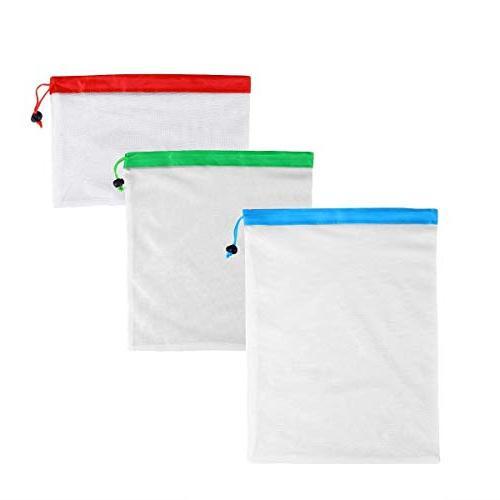 Storage Bags 12pcs Reusable Produce Bags Storage Fruit Toys - Compression Half