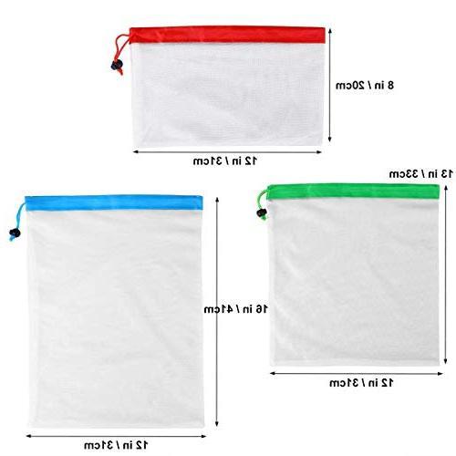 Storage Bags 12pcs Reusable Bags Washable - Transparent And Compression Space Half That