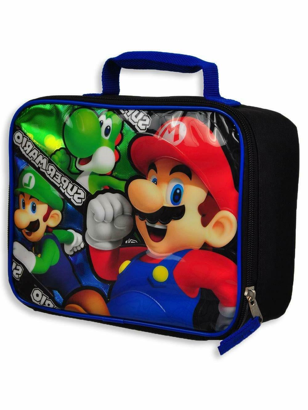 Super Mario Luigi Yoshi School Insulated Lunch Box Lunch Bag
