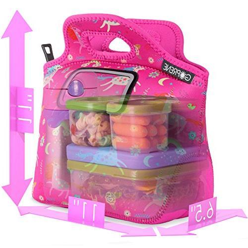 Unicorn Girls Label | Neoprene Tote Pink by