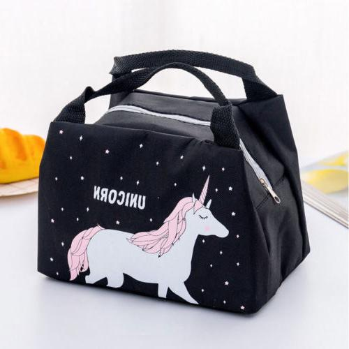 Unicorn Women Portable Bag Box Picnic Tote