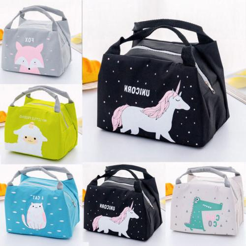 unicorn women girls kids portable insulated lunch