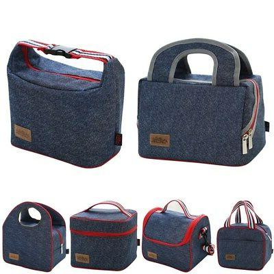 US Adult Lunch Box Insulated Bags Cooler Tote Bag Men Women Kids
