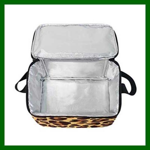 Use4 Leopard Bright Animal Skin Lunch Bag Tote Color2