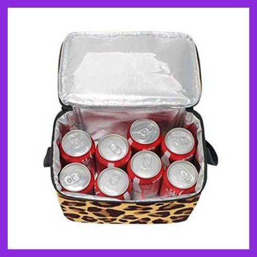 Use4 Leopard Print Bag Cooler Lun Color2