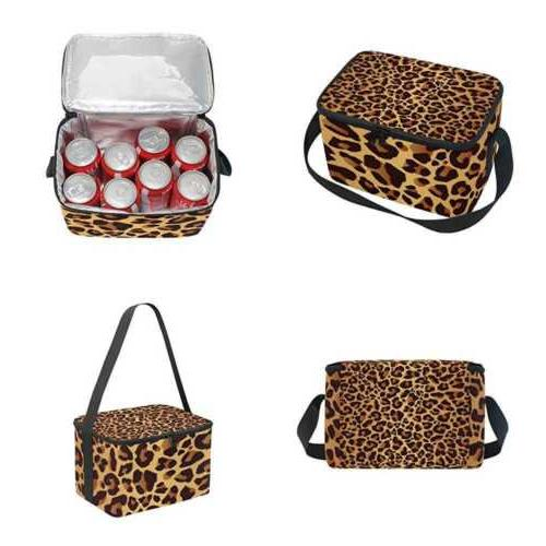 use4 leopard print bright animal skin insulated