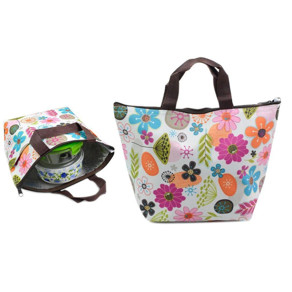 Waterproof Picnic Lunch Bag Tote Insulated Cooler Travel Zip