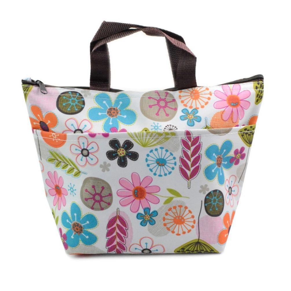 Waterproof Lunch Bag Tote Thermal Box Travel Girls