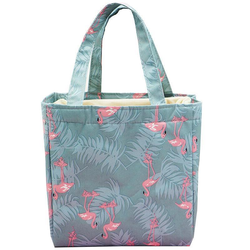 Women's Travel Print Carry Food Box Bags